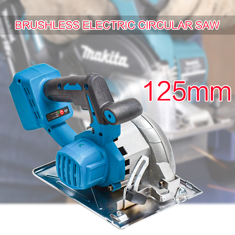 Cutting Cordless Makita 125mm Saw 18V Sawing Tools For Machine Battery Electric Circular Power Curved Adjustable 10800RPM