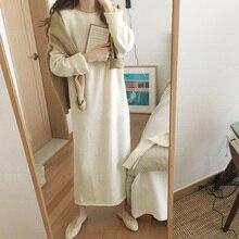 Cashmere Wool Winter Dress Women Thick K