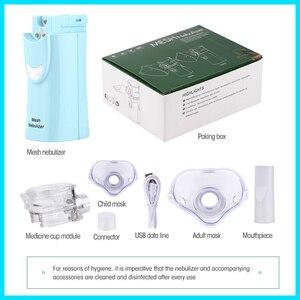 Image 5 - RZ Portable maille nébuliseur dispositif à vapeur ultrasons enfants adulte Rechargeable Automizer équipement médical RZ823 maille nébuliseur