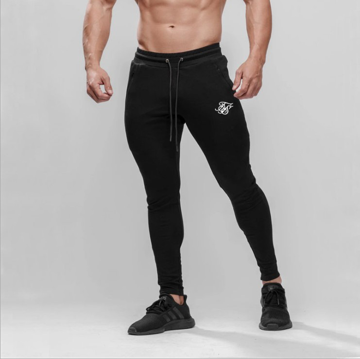 Sik Silk Men's Pants Fitness Skinny Trousers Spring Elastic Bodybuilding Pant Workout Track Bottom Pants Men Joggers Sweatpants