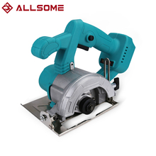 ALLSOME 110mm Cordless Electric Circular Saw Woodworking Cutting  Power Tool For Makita 18v Battery