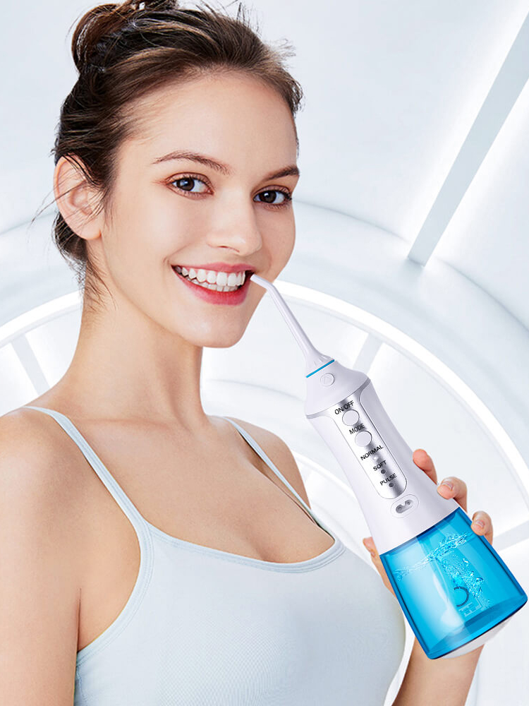 Oral-Irrigator Dental-Flosser Water-Jet Cordless Electric-Water Rechargeable 300ml 5-Tips