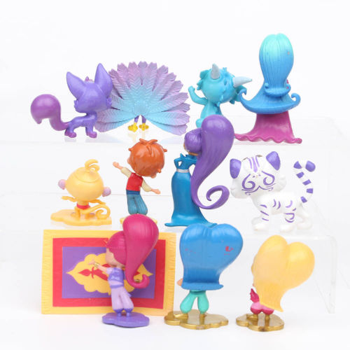 12 PCS Action Figures Toy Garage Kit Toys PVC Dolls Baby Kids Shimmer Children Shine Birthday Cake Decoration Gift Pakistan