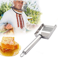 Stainless Steel Bee Hive Uncapping Honey Multifunctional Fork Scraper Shovel With Handle Beekeeper Tool Apiculture Accessories|Beekeeping Tools| |  -