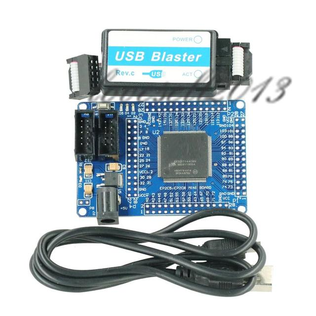 1PCS 5V หน่วยความจำแบบ EPROM FPGA CycloneII EP2C5T144 ขั้นต่ำของ USB Blaster Mini USB 10Pin JTAG การเชื่อมต่อสาย