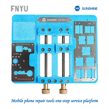 цена на SUNSHINE SS-601J 2020 upgrade mainboard fixture for iPhone fingerprint repair PCB bracket mainboard welding repair