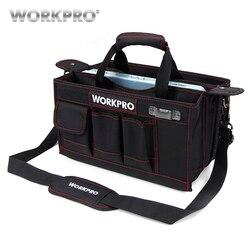 WORKPRO 600D الكتف أداة حقيبة مع مركز صينية للماء عدة أدوات أكياس جيوب ل Electrican أكياس