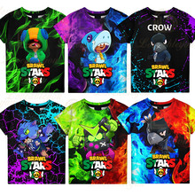 Cartoon Tops Brawling Shooting Game PRIMO 3D t shirts Boys Girls Baby Clothes Dynamike and Star, 6 To 19 Year Kids Leon Fashion
