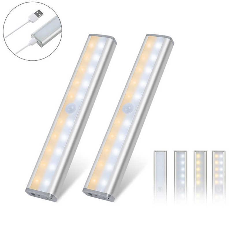 20 LED Sensor Gerak Lemari Lampu Dimmable Nirkabel Lampu untuk Kabinet Tangga Lorong L9 #2