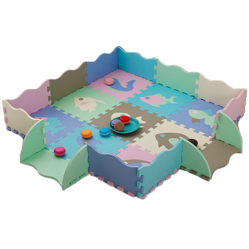 Baby Puzzle Jigsaw Floor Mats EVA Foam Play Mat With Fence Thick Carpet Pad Toys For Kids Educational Toys Activity Pad