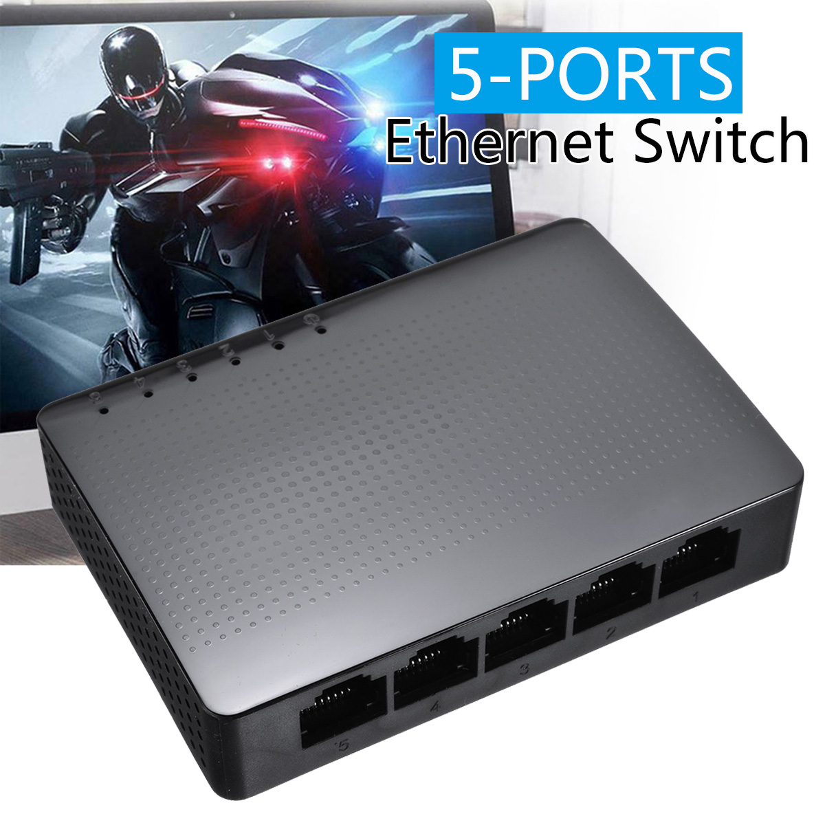 High Quality Ten-da LAN Hub SG105 5-port Desktop Gigabit Network Switch Ethernet Switches Wireless Router 1000M US Power Adapter