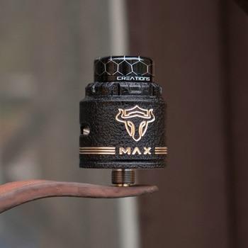 Tauren MAX RDA – pont de construction en céramique, 25mm, avec broche BF, double forme en Y, création originale de Thunderhead, atomiseur de vapoteur