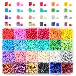 Оптовая продажа 2 мм 3 мм 4 мм стеклянный бисер чешский бисер Круглые бусины для DIY браслета ожерелье ювелирные аксессуары 24 цвета