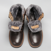 35~48 Winter Boots For Men Super Warm Genuine Natural Leather Handmade Snow #BG1570