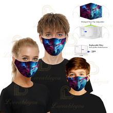 Face Mask Mouth Mask Reusable Mask Adult Kids Washable Mascarillas Face Shield Masque Facial Mask with 2 Filters Dropshipping