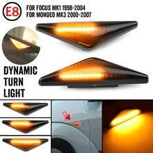 2 pçs/lote para ford focus mk1 1998-2004 para mondeo mk3 2000-2007 lado marcador sequencial indicador da lâmpada pisca luz de sinal de volta