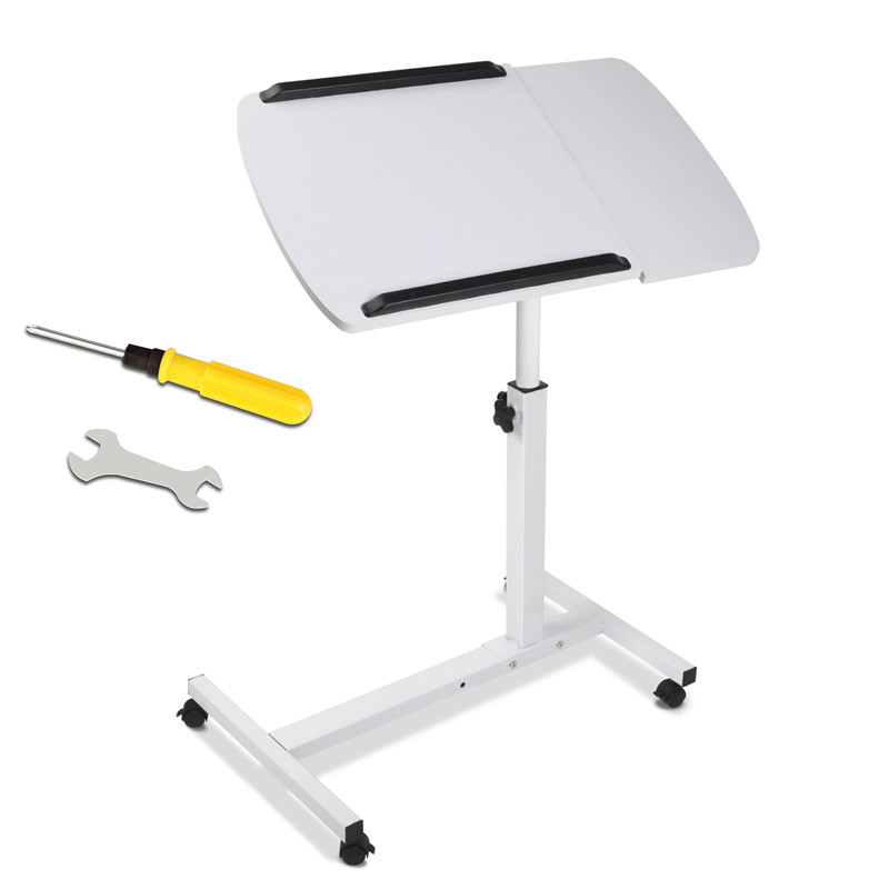 Foldable Computer Table Adjustable Portable Laptop Desk Rotate Mobile Laptop Bed Table Can Be Lifted Standing Desk