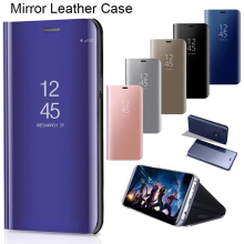Smart Mirror Flip Leather Phone Case for Samsung Galaxy J8 J6 J4 Plus J2 Pro Core Case for Galaxy J7 J5 Prime J3 Case Cover 3d butterfly leather flip wallet case for samsung galaxy j8 j7 j6 j5 j4 j3 j2 j1 2016 2017 2018 plus prime pro core phone cover
