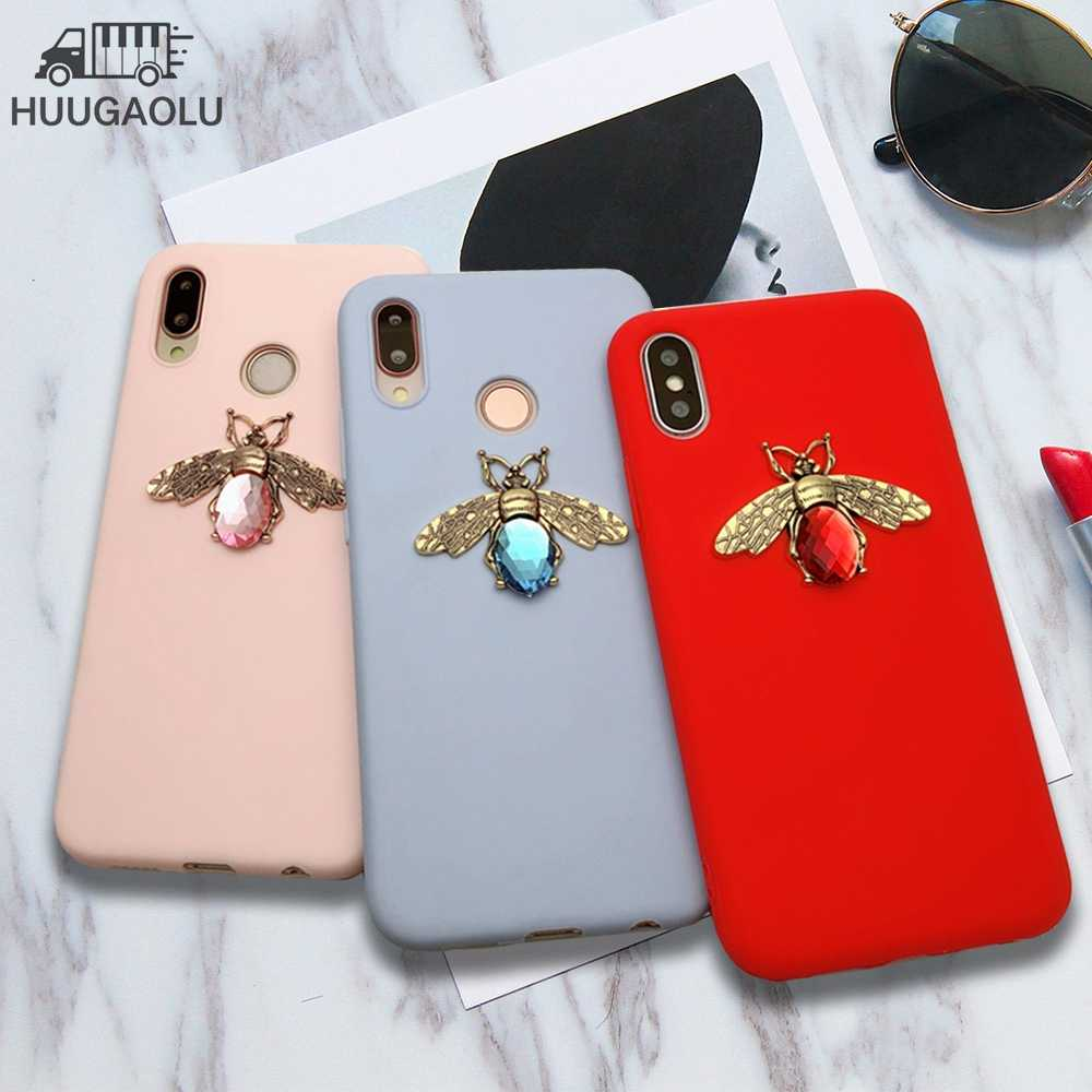 3D Diamond Bee Telefoon Case Voor Iphone X Xr Xs Max 6S 7 8 Plus Luxe Etui Coque Voor samsung S20 S10 A50 A51 A70 A71 Note 10 Cover