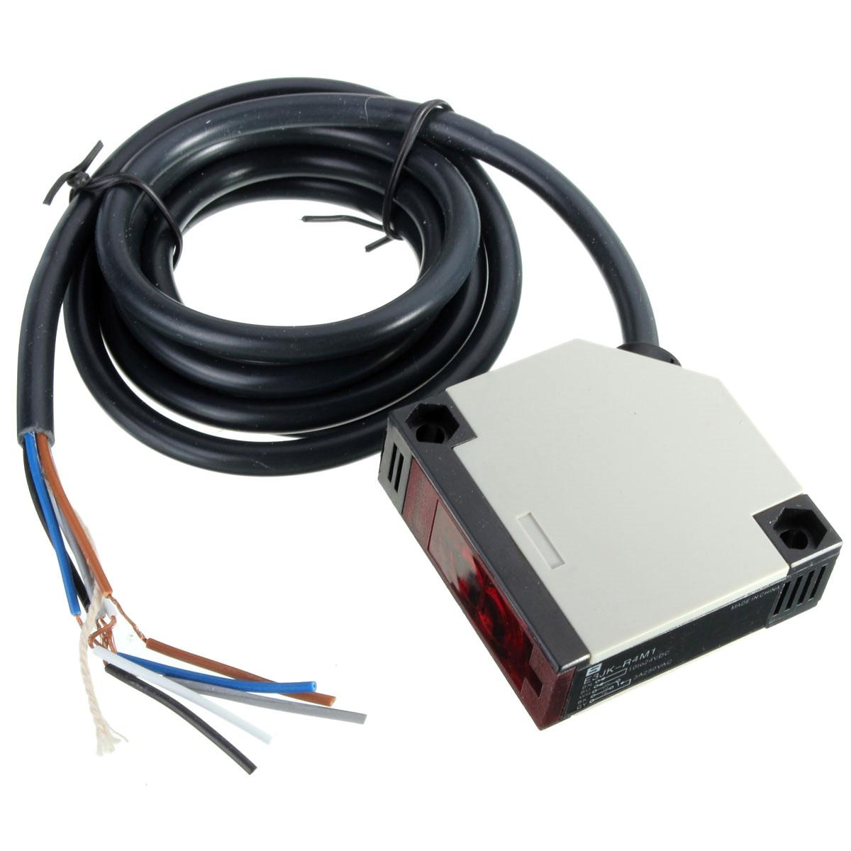 E3JK-R4M1 Specular Reflection Photoelectric DC10-24V AC90-250V 3A Sensor Switch With Screws