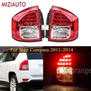 MIZIAUTO Rear Tail lights For Jeep Compass 2011-14 1PCS Left/Right Rear Bumper Brake Light Warning assembly Fog lamp