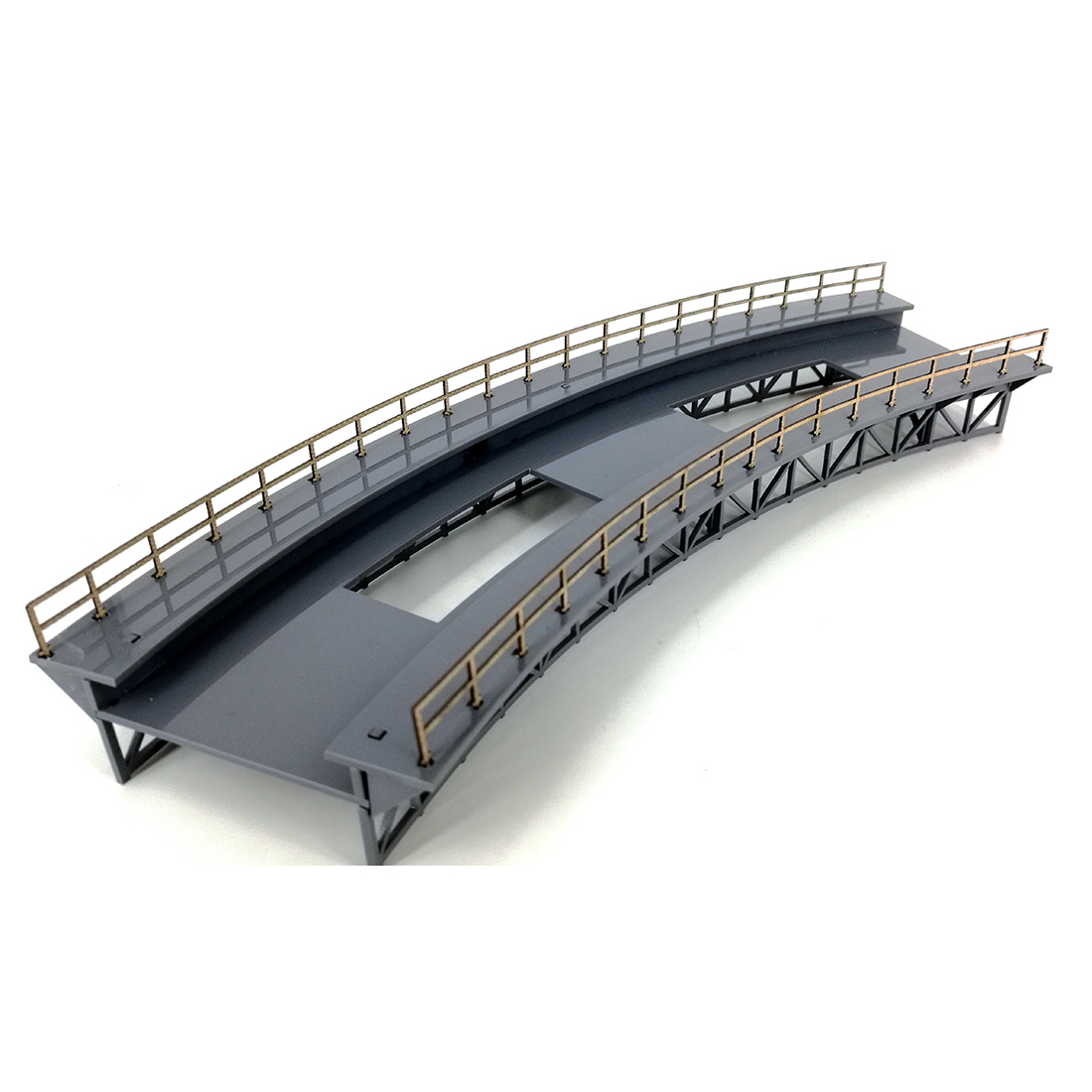 1:87 HO Scale Train Railway Scene Decoration Q4 R4 Curved Railway Bridge Model Without Pier For Sand Table