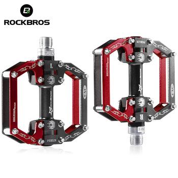 ROCKBROS Ultralight profesjonalne wzrost jakości MTB Mountain BMX rowerowe pedały rowerowe kolarstwo uszczelnione łożysko pedały pedał 5 kolory tanie i dobre opinie Ultralight pedału 90mm*85mm*15mm Rowery górskie Rowery drogowe JTLK1012L+JTLK1012S Aluminium stop Łożyska