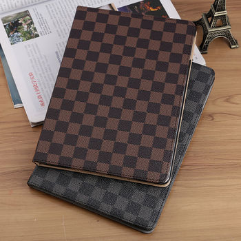 Luxury PU Leather Plaid Case For Apple iPad Air 1 2 Mini 1 2 3 For iPad 2 3 4 Mini 4 5 Flip Tablet Case Cover for ipad 10 2 case cartoon people pu silicone soft back tablet cover for ipad mini 3 4 5 air 1 2 pro 10 5 flip smart stand case