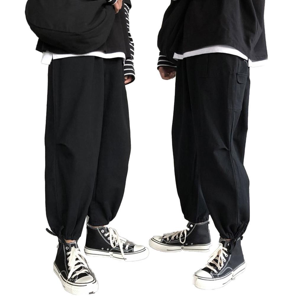 Fashion Men Harem Pants Japanese Casual Breathable Trouser Man Jogger Pants Chinese Baggy Pants Loose Pants Ninth Trousers 2020