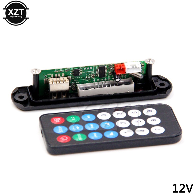 5V 12V MP3 WMA Decoder Board MP3 Player Car Audio USB TF FM Radio Module Remote Control For Car Accessories