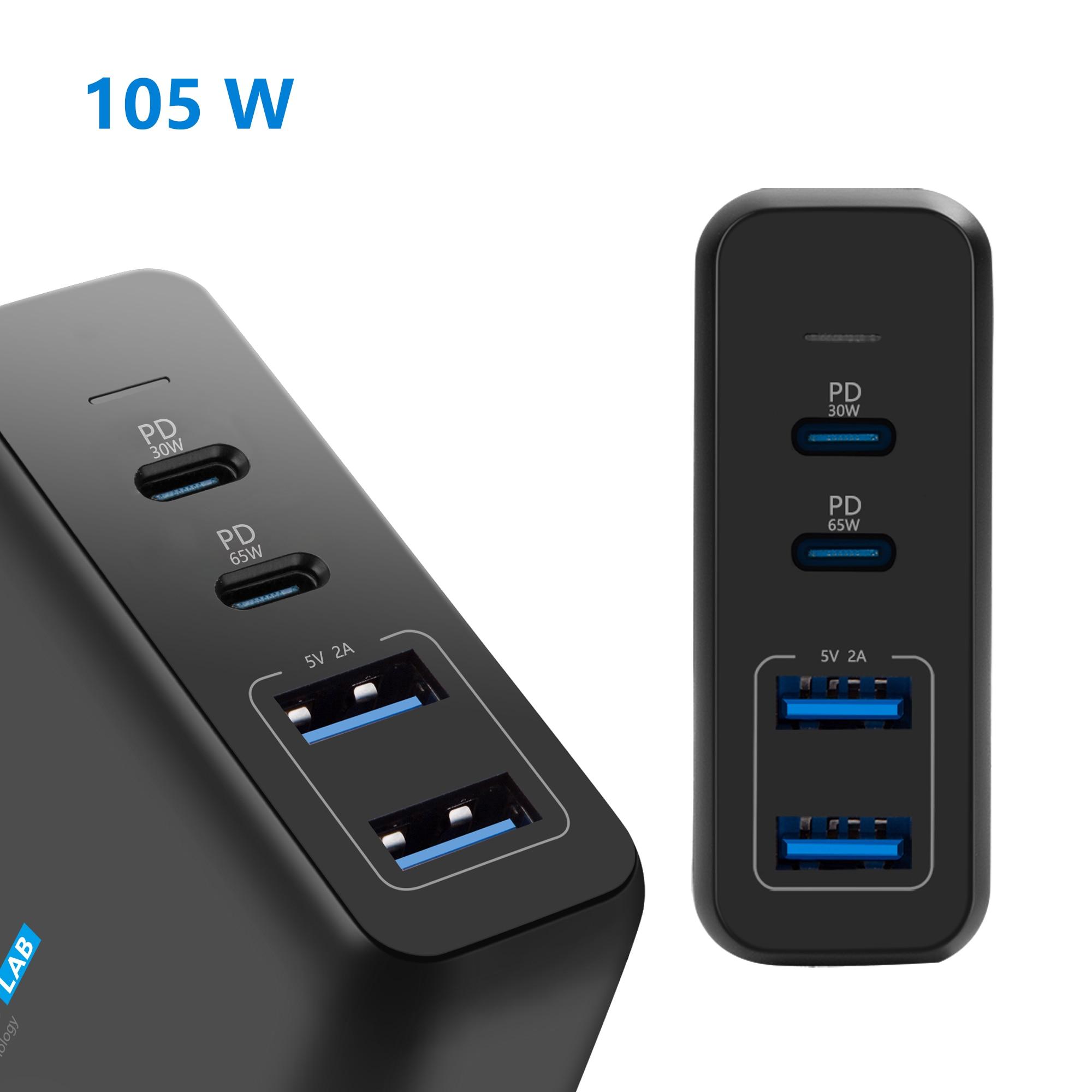 105W Dual ชาร์จ USB USB Type C อะแดปเตอร์ USB C PD สำหรับ MacBook Xiaomi HP Dell XPS iPhone 11 pro และอุปกรณ์ Type C ส่วนใหญ่-ใน อะแดปเตอร์แล็ปท็อป จาก คอมพิวเตอร์และออฟฟิศ บน AliExpress - 11.11_สิบเอ็ด สิบเอ็ดวันคนโสด 1