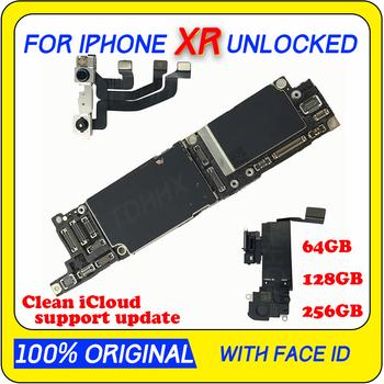 100 odblokowana płyta główna dla iPhone XR oryginalna płyta główna z wihtout face id darmowy icloud IOS tablica logiczna z pełnymi chipami MB tanie i dobre opinie TDHHX Wewnętrzny Apple iphone For iphone xR motherboard Original Disassemble Unlocked and used 64GB 128GB 256GB YES NO