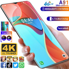 Smart Phone Android Gobal Version A91 MTK6799 Cellphone Unlocked Mobile Smartphone Cell Phones Dual Sim 4g Celular Full Screen