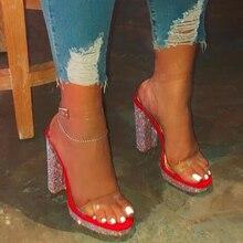 Лидер продаж; женская обувь на высоком каблуке; стразы; яркие сандалии на высоком каблуке; пляжные сандалии; уличные шлепанцы для банкета