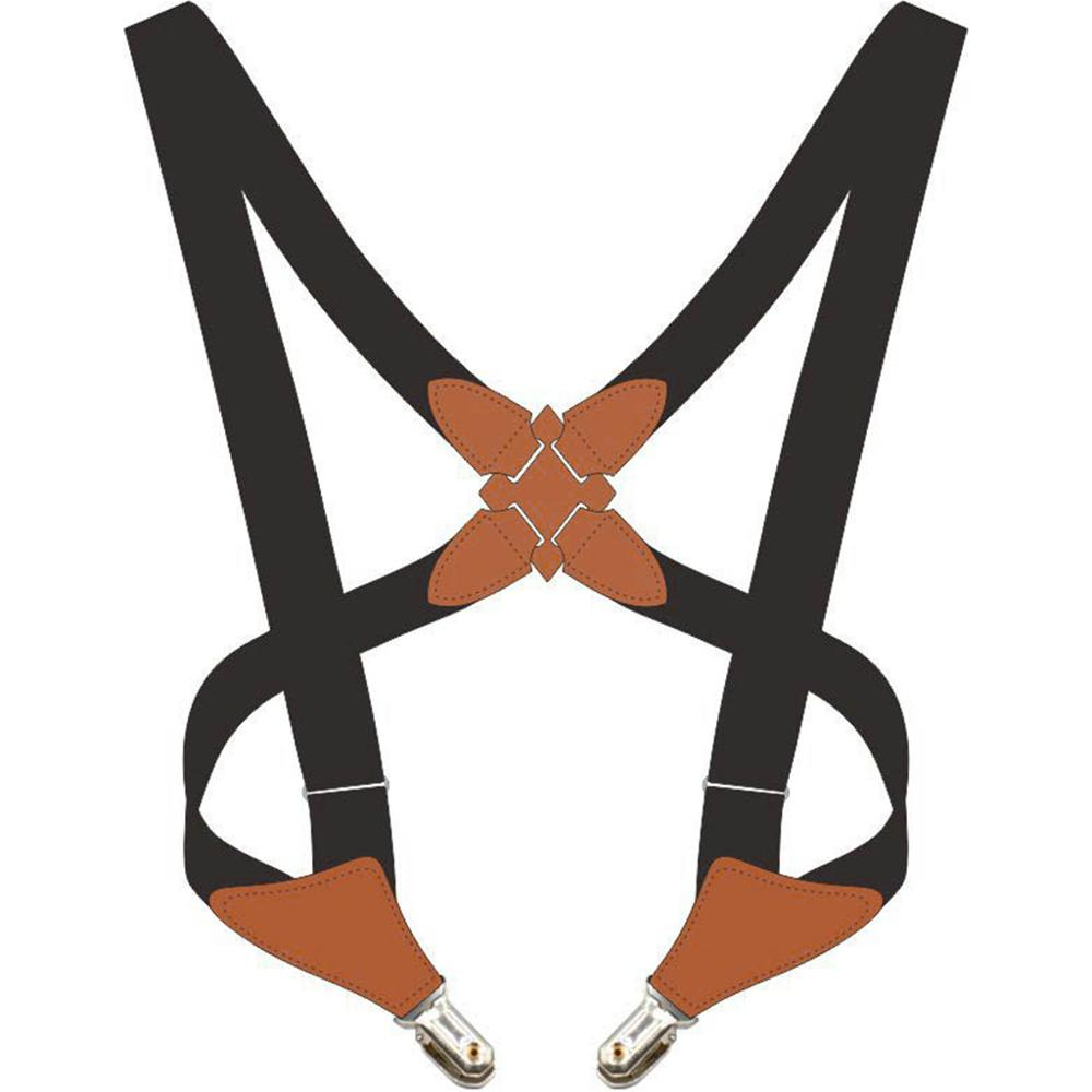 Adjustable Adult Suspend Belt Unisex Crossover Clip-on Braces Shoulder Strap