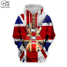 Men DJ Electric Guitar 3D Print USA retro Hoodie casual America Hip Pop Sweatshirt unisex zipper pullover tracksuit women tshirt