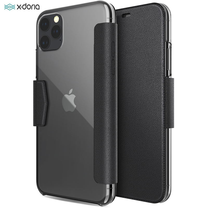X Doria Flip Wallet Case For iPhone 11 Pro Max Luxury PU Leather Engage Folio Phone Case For iPhone 11 Cover Built in Card Slot
