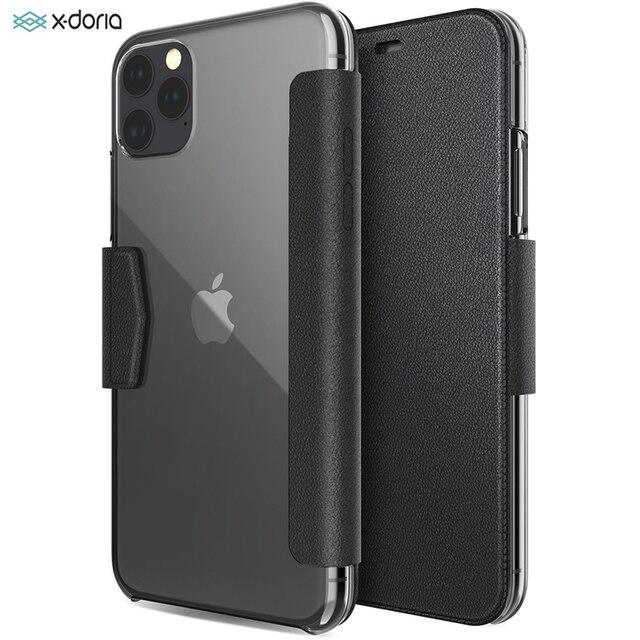 X doria etui flip wallet etui na iPhone 11 Pro Max luksusowe etui ze skóry PU Engage Folio etui na iPhone 11 okładka wbudowane gniazdo na kartę