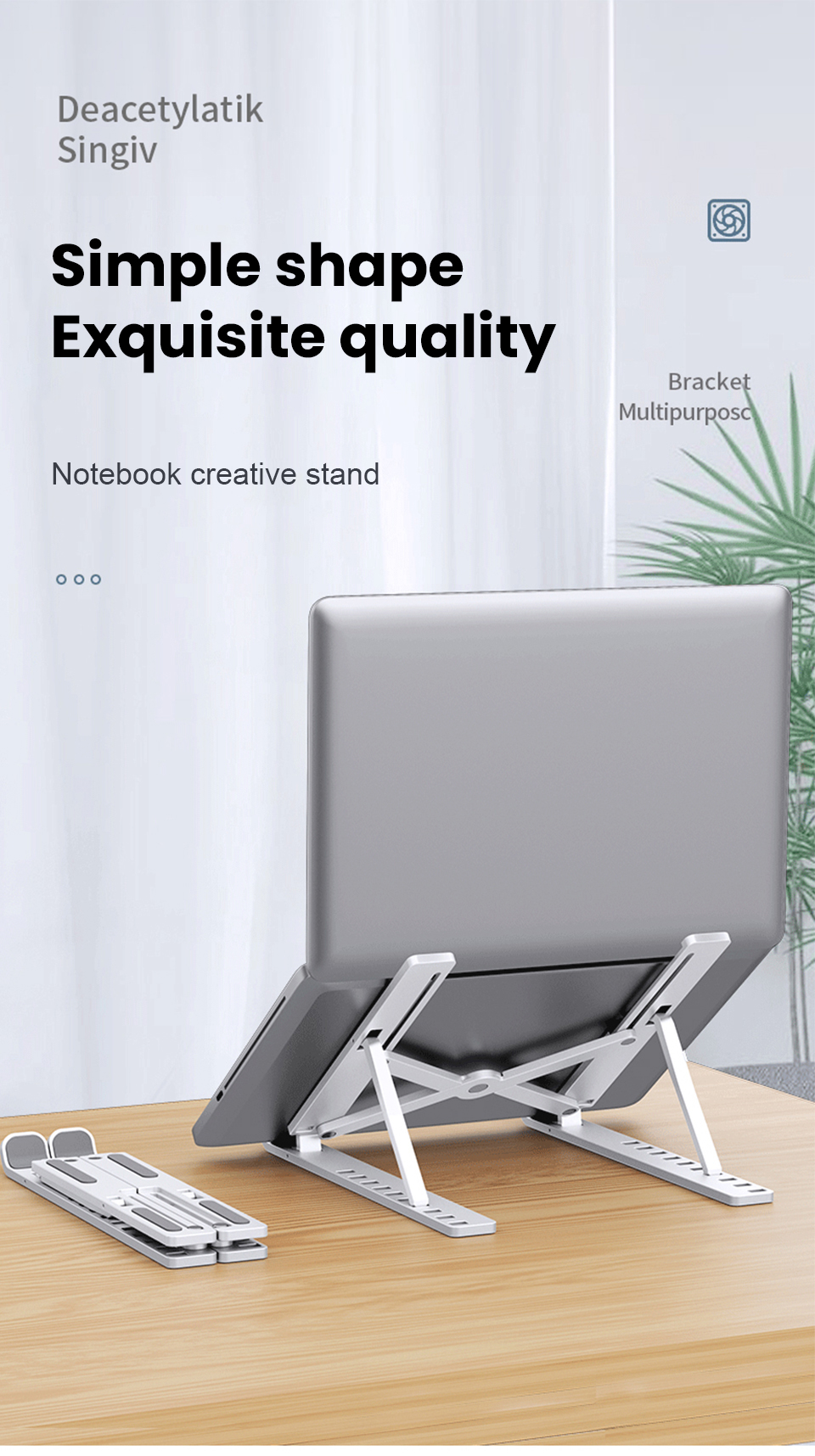 NEW Portable Laptop Stand 10 Levels Height Adjustable Stand For notebook Lapdesk Computer Laptop Holder Cooling Bracket Riser