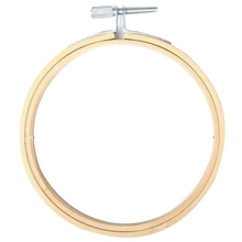 10 Pcs/Set 10Cm Wooden Embroidery Hoops Frame Set Bamboo Embroidery Hoop Rings For Diy Cros