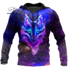 Wolf Printed Hoodies Men 3d Hoodies Brand Sweatshirts Jackets Quality Pullover Fashion Tracksuits Animal Streetwear Out Coat-13 hampson lanqe animal wolf printed men hoodies sweatshirts 2019 warm fleece coat brand punk hoodie harajuku men s jackets cm01