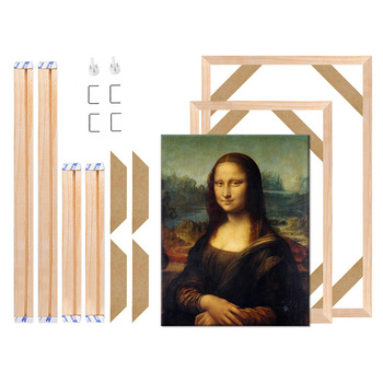 Natural Wooden Canvas Frame For Painting DIY Square Plain Wood Picture Frame For Canvas Photo Poster Small Big/ Large Wall Decor modern wooden picture frame wooden wall decoration painting display box diy handmade photo frame home decor