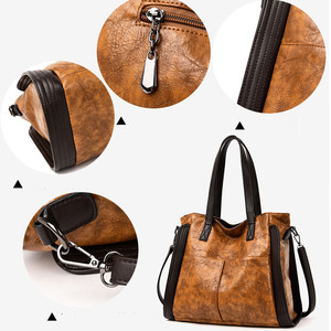 Image 5 - Сумка женская из мягкой кожи, винтажный саквояж на плечо, дизайнерский брендовый тоут с верхними ручками