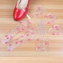 6 пар/уп. женские гелевые силиконовые стельки для стопы, стельки для обуви, противоскользящие, облегчающие боль, высокие аксессуары с каблуками, защитная подушка