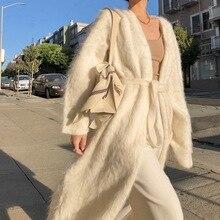 Loose Sweater Long-Cardigan Versatile Knitted V-Neck Temperament Autumn Winter Women