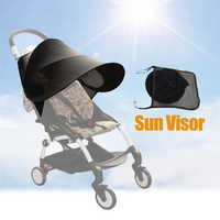 Universal carrinho de bebê acessórios sol sombra viseira dossel capa chapéu resistente uv caber babyzenes yoyo yoya + carrinho de bebê