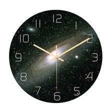 CC019 Galaxy настенные часы акриловый материал движение без звука спальня гостиная красивые часы космическое время
