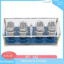 Diy in12 in-12 nixie tubo pcba kit relógio digital belo presente, sem tubos