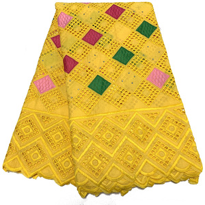 Image 5 - NIAI حار بيع 100% القطن الأفريقي قماش دانتيل جاف النيجيري أقمشة الدانتيل 2020 جودة عالية الفوال السويسري في سويسرا XY2868B 1