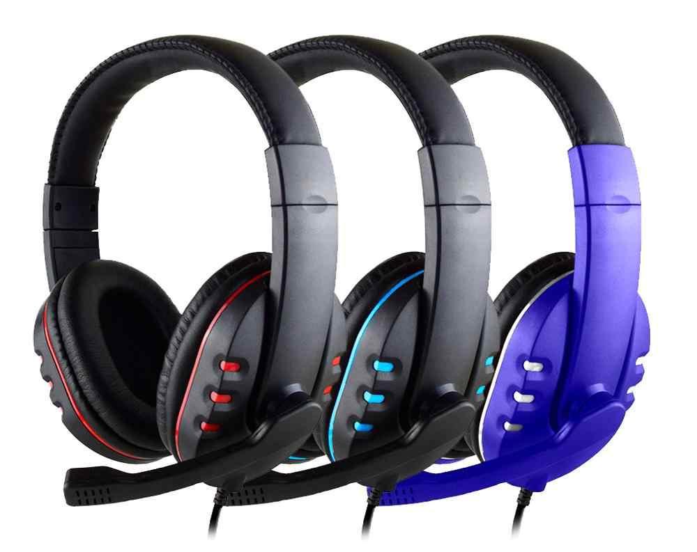 有線ゲーミングヘッドフォンゲーマーのためのマイクヘッドフォンプロモーションイヤホンで PS4 プレイステーション 4 x ボックス one pc 低音ステレオ pc ヘッドセット